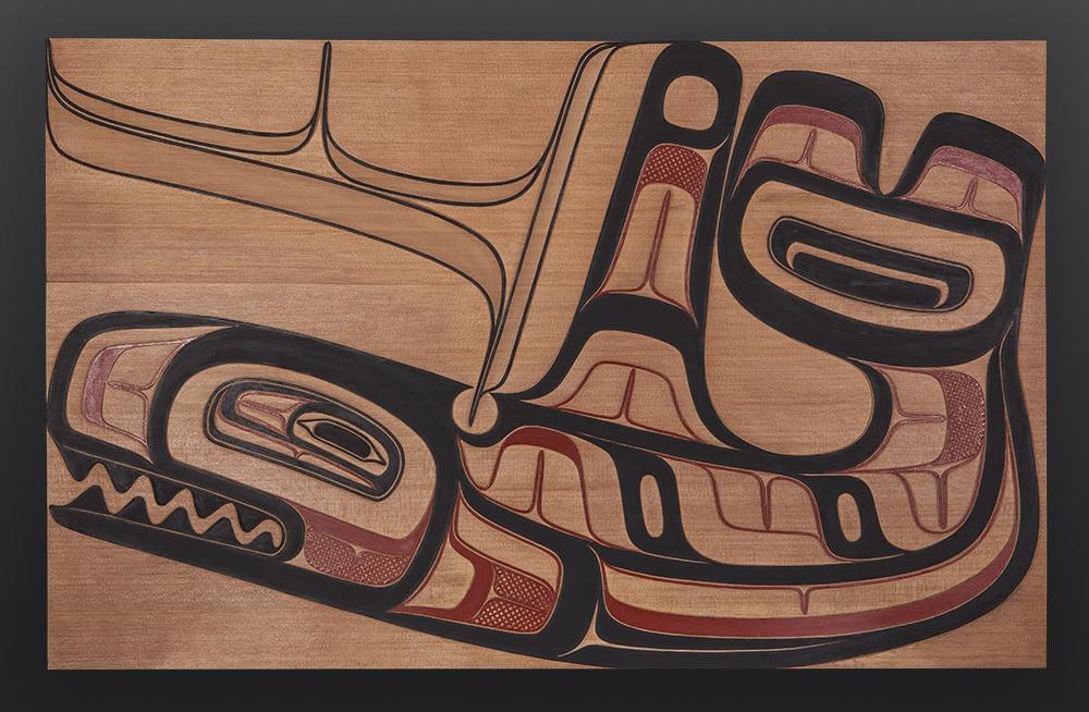 Holtka Xsoo Clifton Guthrie Tsimshian orca killer whale panel