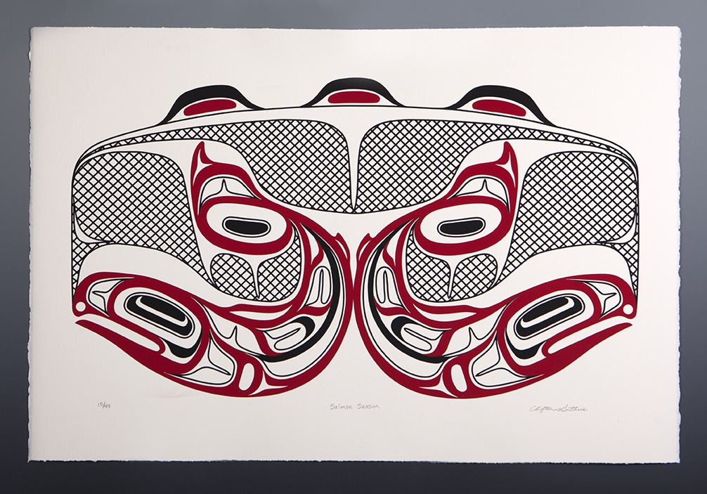 Clifton Guthrie Tsimshian Salmon Season Silkscreen