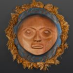 blue moon mask Darren Joseph Coast Salish Red cedar cedar bark