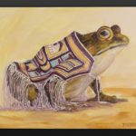 Jean Taylor Tlingit Acrylic on canvas Jean Taylor Proud of his new robe frog