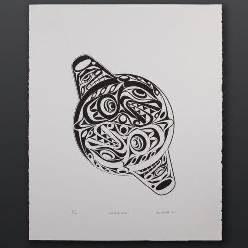 ying yang orca Joe Wilson Coast Salish Limited edition serigraph 22 x 27 125 northwest coast native art print killer whale