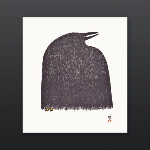Ravens Boots Ningiukulu Teevee Inuit Stonecut Stencil