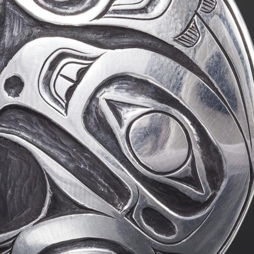 haida lovebirds ernest swanson haida 1 3/4 650 silver oxidized
