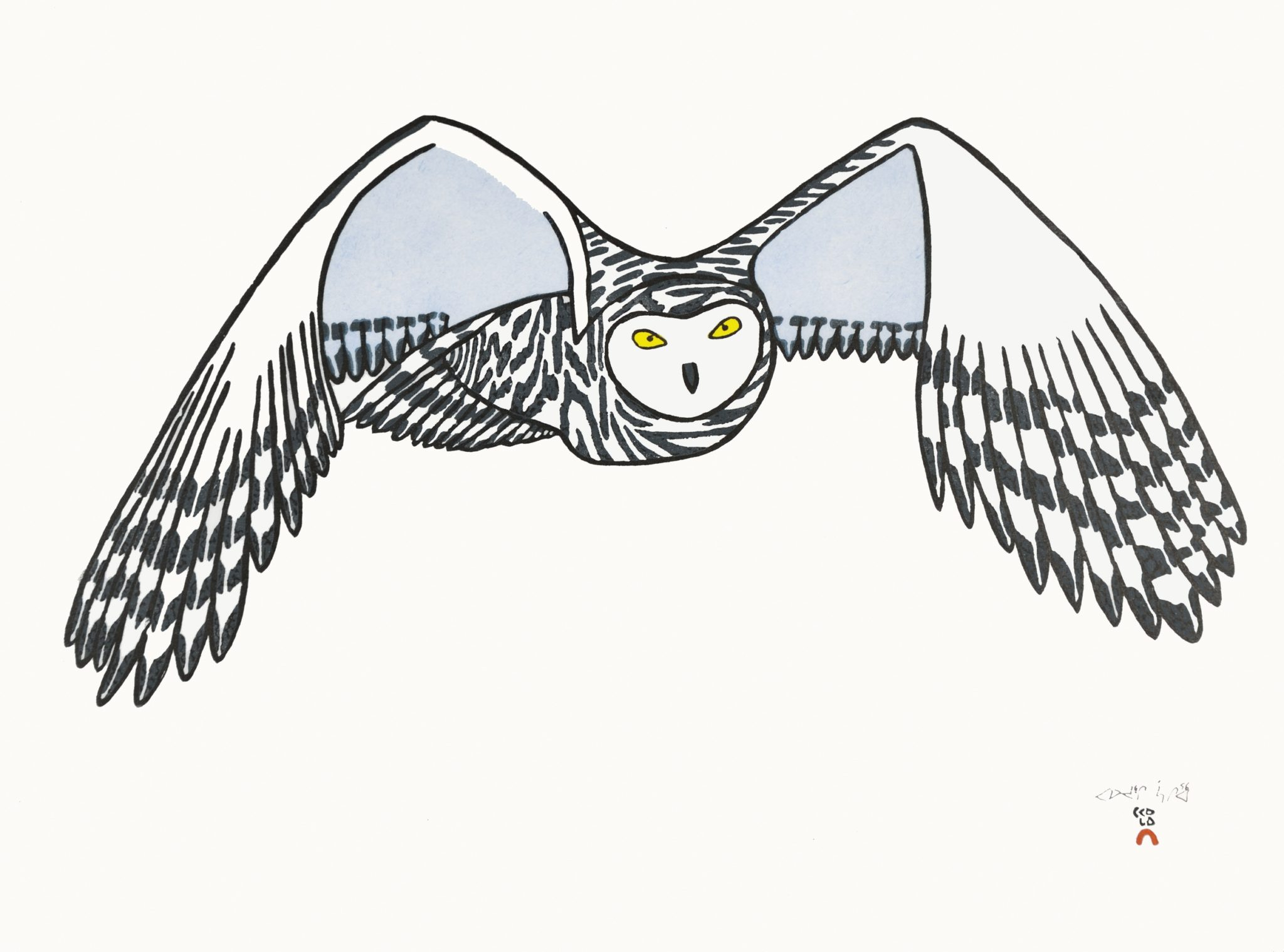 Pauojoungie Saggiai Watchful Eyes cape dorset print collection 2016 owl $440
