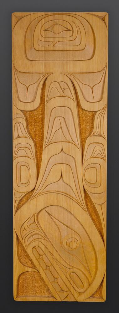 Orca Erich Glendale yellow cedar panel Kwakwaka'wakw 3200