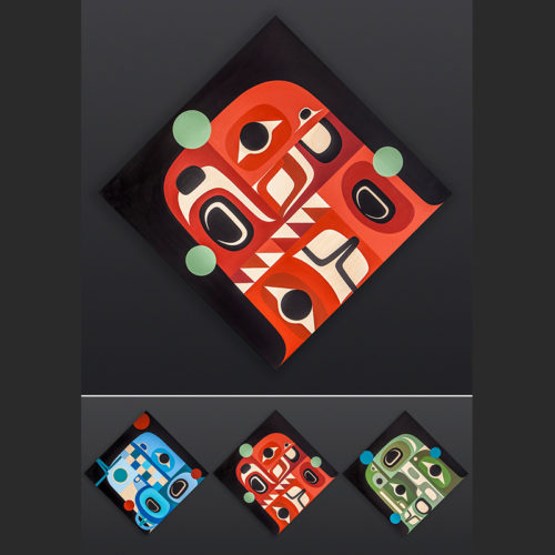Steve Smith - Dla'kwagila Oweekeno Strength in U Acrylic on birch panel 24 x 24 2000