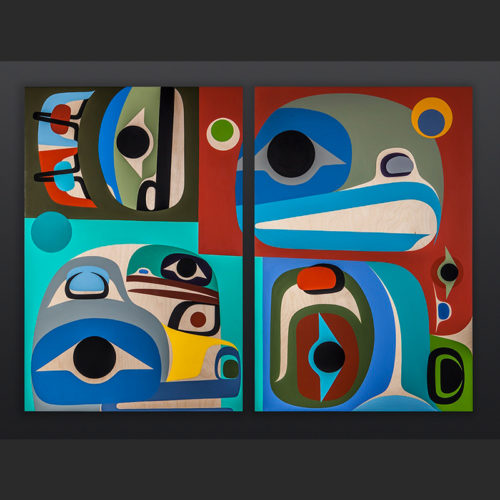 Steve Smith Dlakwagila Oweekeno Awaken to Peace Acrylic on birch panel 6000