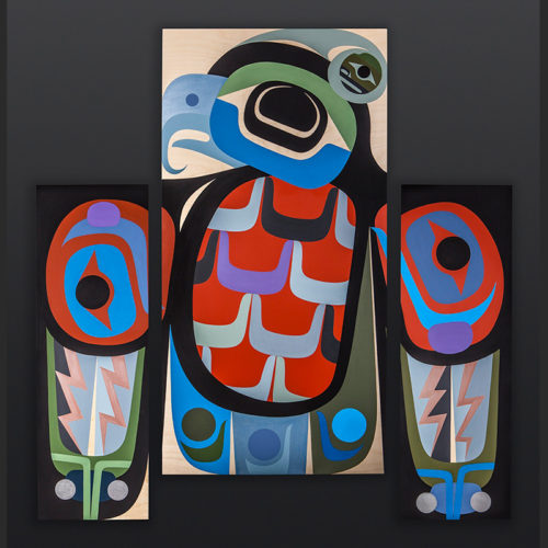 Steve Smith - Dla'kwagila Oweekeno A Little Bit of Thunder Acrylic on birch panel painting 6800