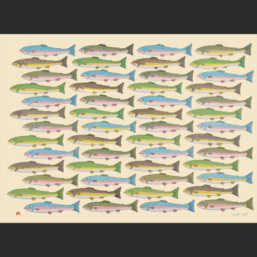 Counting Char Pauojoungie Saggiai inuit cape dorset print collection 2016 440