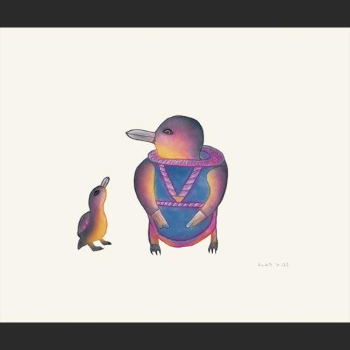 "Malaija Pootoogook Etching & Aquatint 15"" x 18"" $360"