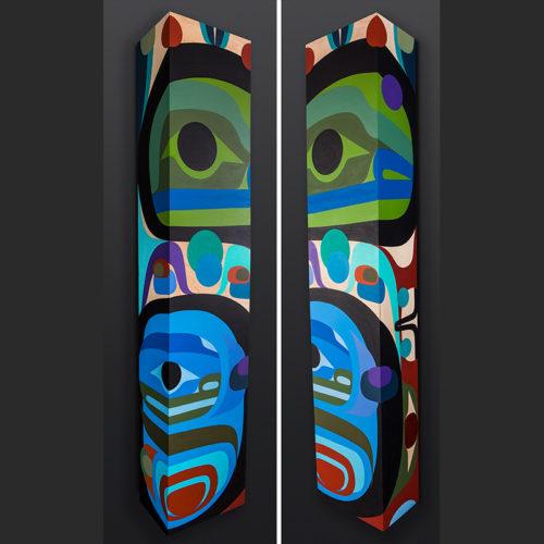 Steve Smith - Dla'kwagila Oweekeno Emerging Acrylic on birch & pine painting 3800