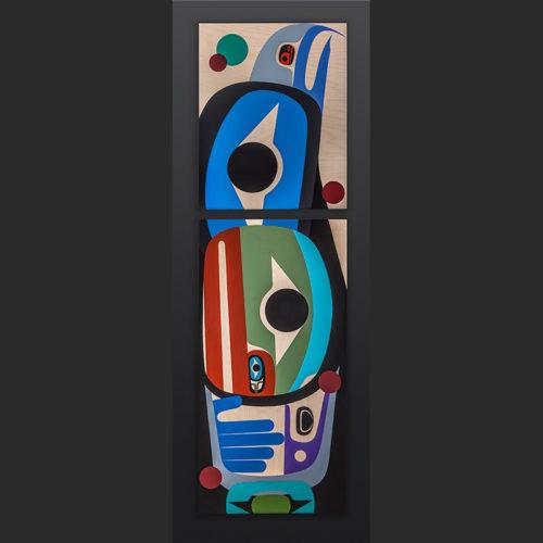 Steve Smith - Dla'kwagila Oweekeno full of peace Acrylic on birch panel eagle painting 6500