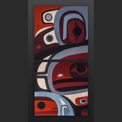 Steve Smith - Dla'kwagila Oweekeno Gratitude Acrylic on birch panel 4000