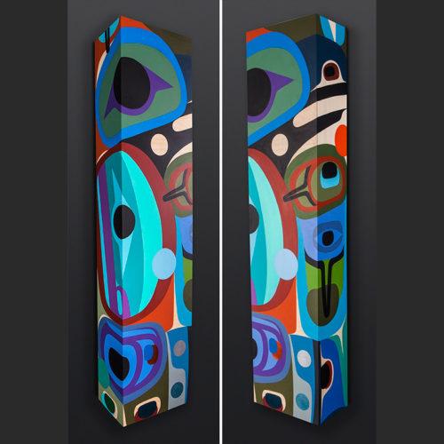 It's Tricky Steve Smith - Dla'kwagila Oweekeno acrylic on birch painting 3600 4000