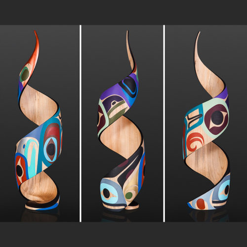 Steve Smith Dlakwagila Oweekeno Supernatural Acrylic on turned maple 3500 spiral 22