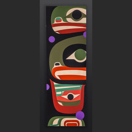 Steve Smith - Dla'kwagila Oweekeno together Acrylic on birch panel painting 1500