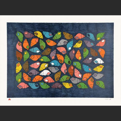 treasure of the sea Pauojoungie Saggiai inuit cape dorset print collection 2016 440