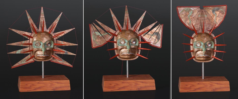 Si'santla'yi Sun Kolus copper repousse transformation gus cook kwakwaka'wakw 9600