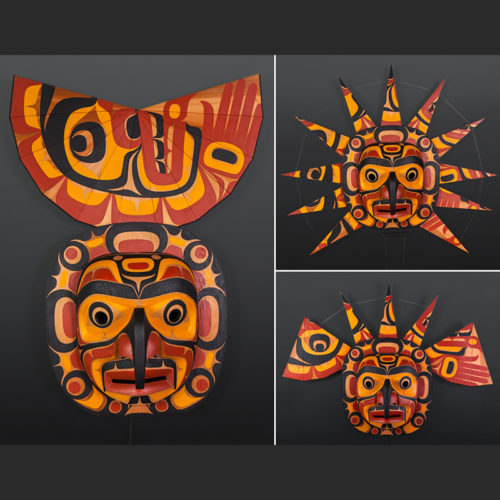 "John Livingston Adopted Kwakwaka'wakw Red cedar, paint, twine 42"" x 38"" x 10"" Sold"