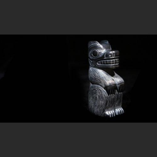 """Bear Melanie Russ Haida argillite 3""""H X 1""""W X 1 ¾""""D Sold"""