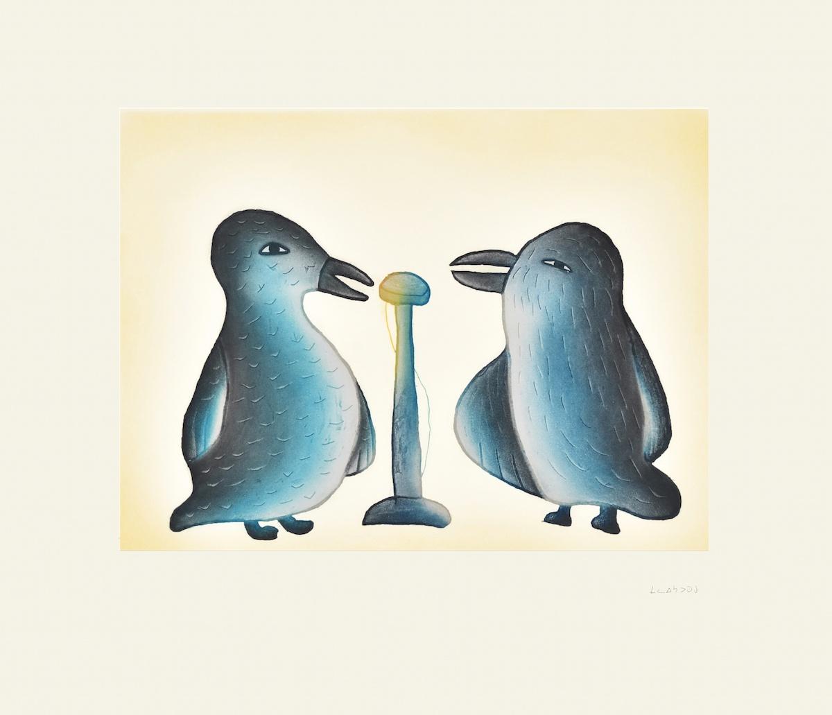 SONG BIRDS Cape Dorset Print Collection 2015 MALAIJA POOTOOGOOK Medium: Etching & Aquatint Paper: Arches White Printer: Studio PM Size: 21 ½ x 24 ¾ inches (54.5 x 63 cm) Price: $700