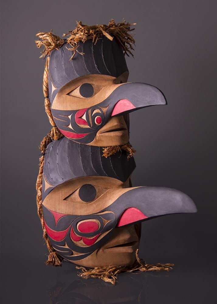Qu_uu and Ka-in-kus (Raven and Crow) Raven Crow Tim Paul Nuuchanulth West Coast Mask