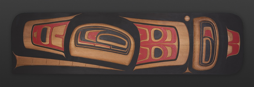 "orca the ancestor Reg Davidson Haida $5400 Red cedar 58"" x 15"" x 2"" orca whale"