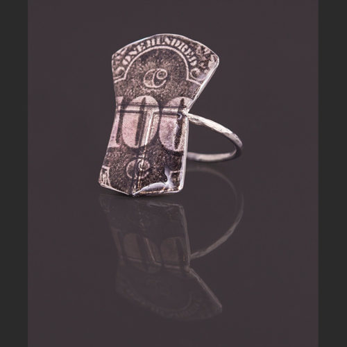 100 silver ring Alison Bremner Tlingit SIlver Size 6