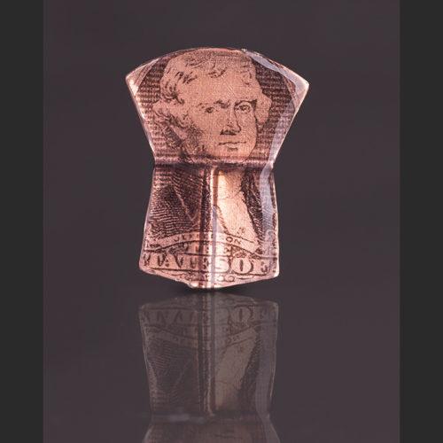 "Andrew copper pendant Alison Bremner Tlingit Copper Pendant 1 ¾""L X 1 3/8""W"