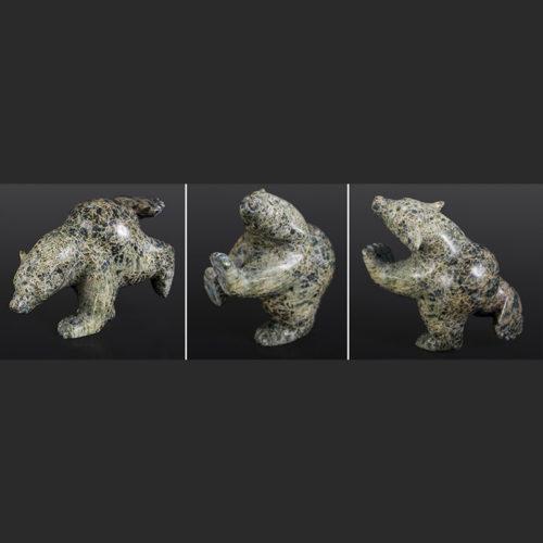 "dancing bear Ottokie Samayuallie Inuit bear Serpentine 8"" x 4"" x 5"" $600dancing bear Ottokie Samayuallie Inuit bear Serpentine 8"" x 4"" x 5"" $600"
