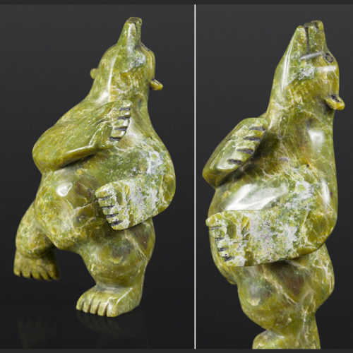 "green dancer Ottokie Samayualie Inuit Serpentine 7"" x 4"" x 3"" $550green dancer Ottokie Samayualie Inuit Serpentine 7"" x 4"" x 3"" $550"