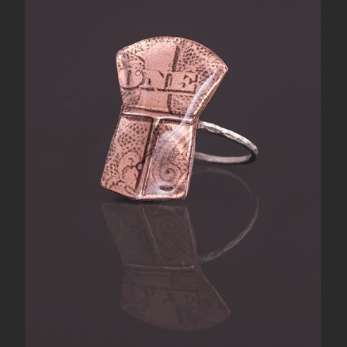 one copper ring Alison Bremner Copper, silver Size 8