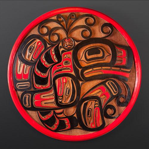 orca's spirit panel Orca's Spirit Joseph Wilson Kwakwaka'wakw Red cedar paint 46 dia. x 2 $7800