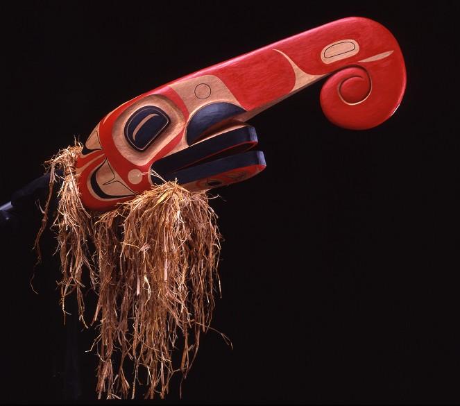 "Dragonfly Mask Corey Bulpitt Haida Cedar 9"" x 33"" x 7"""