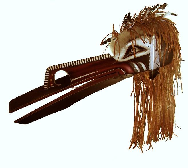 """hamatsa raven headdress Michelle Foley Cree Cedar 33"""" x 44"""" x 8"""""""