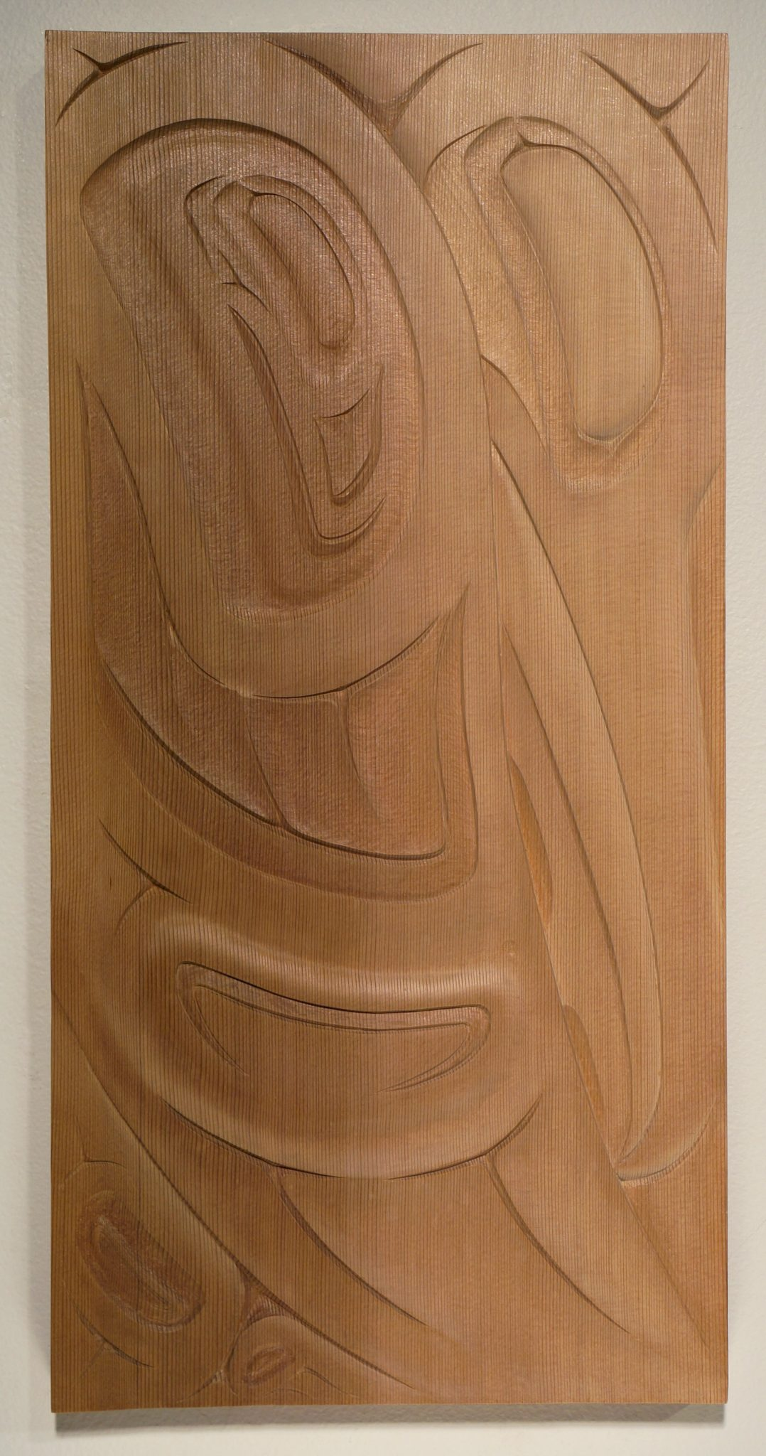 "Raven Panel Troy Bellerose Cree Red Cedar 19.5""H x 9.5""W x .75""D"
