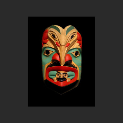 "grandfather speaking through me Norman Jackson Tlingit Alder 11.5"" x 7.5"" x 5"""