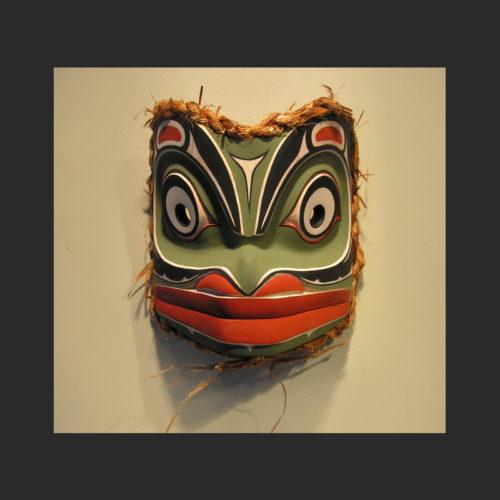 "Little Frog Janice Morin Kwagiulth Cedar 7.5"" x 7.5"" x 5.5"""