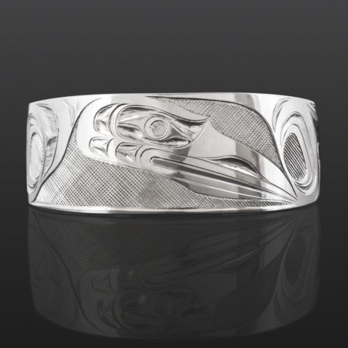 Raven in Flight Erich Glendale Kwakwaka'wakw Silver $550