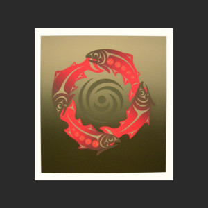 "Arrival Susan Point Coast Salish Silkscreen # I/I Color Proof Remarque 22""W x 24"""