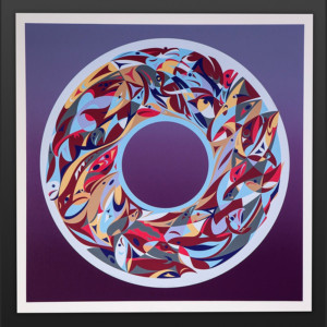 Beyond The Edge Lilac Susan Point Coast Salish Color Preview Silkscreen Limited to 5