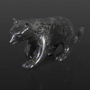"""Fox Kelly Etidloie Inuit Serpentine 13"""" x 5"""" x 4"""" $1100"""