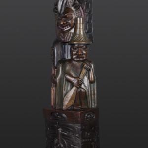 "Raven and the Box of Daylight Preston Singletary Tlingit Bronze, #6/12 34"" x 11"" x 8"" $12500"