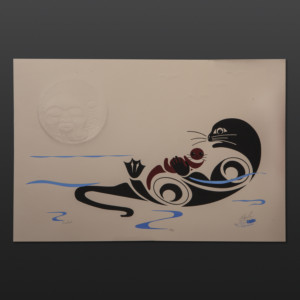 "Comfort (Otter) Peter Boome Coast Salish 15"" x 22"" $250"