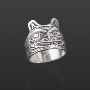 Wolf Ring Joe Wilson Kwakwaka'wakw Silver 7 3/4 $260