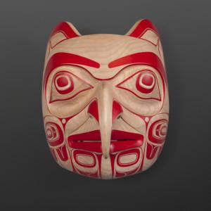 "Becoming Eagle Spirit Cori Savard Haida Red cedar, paint 12"" x 8"" x 7"" $4500"