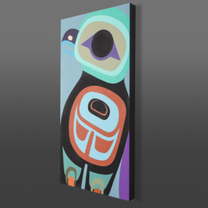 "Young Eagle  Steve Smith - Dla'kwagila Acrylic on birch panel 30"" x 15"" $1700"