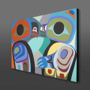 "Love Reflected Steve Smith - Dla'kwagila Oweekeno Acrylic on birch 36"" x 24"" 3400"