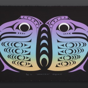 """Kelly Cannell Coast Salish Guardians of the Sky Serigraph, C/P 28"""" x 18"""" $400"""